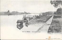 LA REOLE  - 33 -  CPA DOS SIMPLE - Un Coin Du Port - VANH - - La Réole
