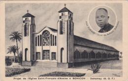 Eglise Saint Francois D'Assisi A Bohicon Dahomey Benin Abomey Abbe Durand Afrique Africa Afrika AOF CPA - Benin