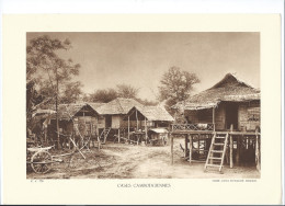 INDOCHINE Cambodge Case Cambodgiennes Planche Neuve. Dos Vierge TB 290 X 200 Mm - Vecchi Documenti