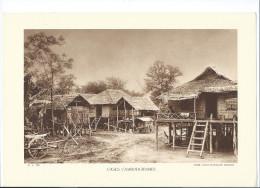 INDOCHINE Cambodge Case Cambodgiennes Planche Neuve. Dos Vierge TB 290 X 200 Mm - Non Classés