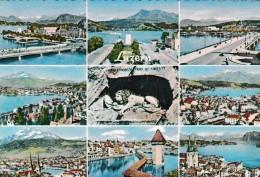 Mehrbildkarte: Luzern Zu: 356 Standesläufer Schwyz. Gelaufen : Luzern - Gerlafingen 12.VII.60 - LU Lucerne