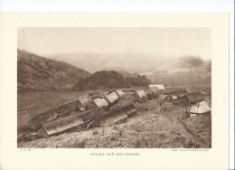 INDOCHINE ANNAM Village Moï Planche Neuve. Dos Vierge TB 290 X 200 Mm - Vecchi Documenti