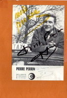 Pierre PERRIN - Exclusivité Disques Ricordi -autographe Dédicace -Discographie Au Dos - Chanteurs & Musiciens