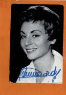 ANNIE CORDY - Pathé Marconi -autographe - Dédicace -Discographie Au Dos - Chanteurs & Musiciens