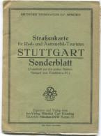 Stuttgart - Strassenkarte Für Rad- Und Automobil-Touristen - Deutscher Touring-Club E. V. München - 1: 250'000 44cm X 56 - Strassenkarten