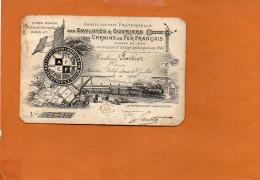 Carte D'Identité - Association Fraternelle Des Employés Et Ouvriers Des Chemins De Fer Français - 1915 Mr Fortier - Chemin De Fer