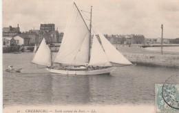 CHERBOURG :   Yacht Sortant Du Port. - Cherbourg