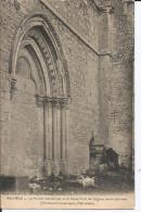 Cpa, Provins (S.-et-M.), Le Portail Méridional Et Le Vieux Puits De L'Eglise Saint-Quiriace, Animée - Provins