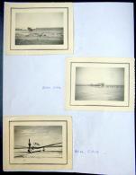AVIATION CIVILE  3  PHOTOS DES ANNEES 1950   A IDENTIFIER 11 X 9 CM - Aviación