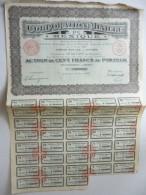 Corporation Minière Du Mexique Cinq Cents Francs N°208,955 - Actions & Titres