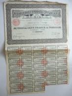 Corporation Minière Du Mexique Cinq Cents Francs N°208,956 - Actions & Titres