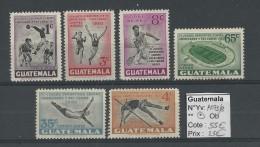 GUATEMALA - POSTE AERIENNE - YVERT N° 173/178 * - COTE = 55 EUROS - SPORTS - Guatemala