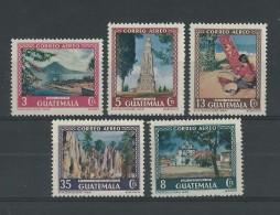 GUATEMALA - POSTE AERIENNE - YVERT N° 168/172 * - COTE = 14 EUROS - - Guatemala