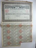 Corporation Minière Du Mexique Cinq Cents Francs N°208,976 - Actions & Titres