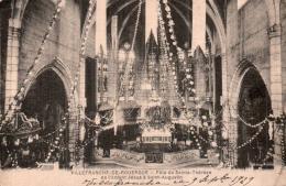 12 VILLEFRANCHE DE ROUERGUE FETE DE SAINTE THERESE DE L'ENFANT JESUS A SAINT AUGUSTIN CIRCULEE 1929 - Villefranche De Rouergue