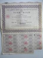 Société Des Charbonnages Ninh-Binh  Part De Fondateur  N° 003,267 - Actions & Titres