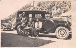 """04316 """"AUTO  TORPEDO - PASSO ROLLE - AGOSTO 1929"""" ANIMATA, FOTO CARTOLINA ORIGINALE - Automobili"""