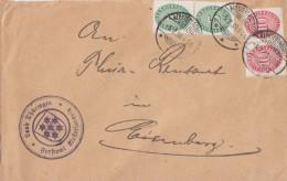 DR Brief Dienst Mif Minr.2x D115, 2x D117 Klosterlausnitz 5.2.30 - Dienstpost