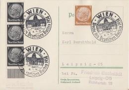 DR Karte Mif Minr.3x 512 UR, 513 SST Wien 8.11.38 Woche Des Dt. Buches - Briefe U. Dokumente
