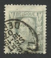 Belgium,  50 C. 1905, Sc # 89, Mi # 75, Used - 1905 Thick Beard