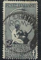 1913 Italia Italy Regno UNITA´ SOPRASTAMPATI 2c Su 15c Ardesia (101) Usato USED - 1900-44 Vittorio Emanuele III
