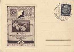 DR Anlasskarte EF Minr.512 SST Frankfurt 16.10.38 60 Jahre Verein Für Briefmarkenkunde - Briefe U. Dokumente