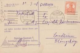 DR Karte EF Minr.99 Berlin 20.7.18 Perfin CSV Ansehen !!!!!!!!!!! - Deutschland