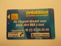 Télécarte - Carte Téléphone : CREDILLON 120 Unites (21/22) - France