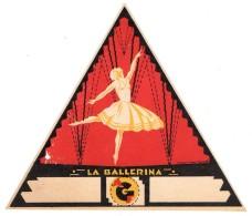 "04322 ""LA BALLERINA""  ETICHETTA ORIGINALE PER FILATI/TESSUTI - LORIGINAL LABEL FOR THREADS - Adesivi"