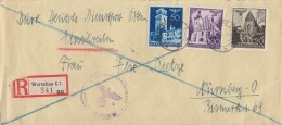 GG R-Brief Mif Minr.44,46,48 Warschau 1.11.41 Gel. Nach Nürnberg - Besetzungen 1938-45