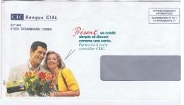 FLORA-L41 - FRANCE Lettre Commerciale Du CIAL Affr. Informatique Illustrée Couple Avec Bouquet De Fleurs - Autres