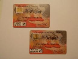 Télécarte - Carte Téléphone : Lot 2 WAGNER - 50 & 120 Unites - SC3 -  (35/36) - Sin Clasificación