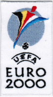 2000 11th Belgium Netherlands UEFA European Championship Euro Football Patch - Patches
