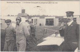 27031g   MEETING D'AVIATION - AVIATEUR CROUQUET SE PREPARANT POUR UN VOL - 1911 - St-Pieters-Woluwe - Woluwe-St-Pierre