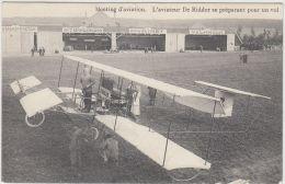 27033g   MEETING D'AVIATION - AVIATEUR DE RIDDER SE PREPARANT POUR UN VOL - 1910 - St-Pieters-Woluwe - Woluwe-St-Pierre