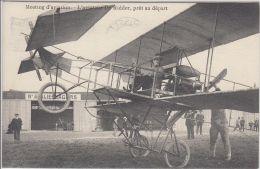 27034g   MEETING D'AVIATION - AVIATEUR DE RIDDER PRET AU DEPART - 1910 - Woluwe-St-Pierre - St-Pieters-Woluwe