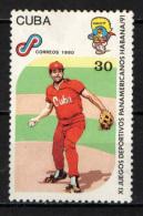 CUBA - 1990 - GIOCHI SPORTIVI PANAMERICANI ALL'AVANA - BASEBALL - USATO - Gebraucht