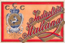 """04327 """"CCC INDUSTRIA ITALIANA""""  ETICHETTA ORIGINALE PER FILATI/TESSUTI-LORIGINAL LABEL FOR THREADS - Adesivi"""