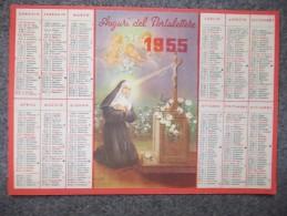 10536-CALENDARIO 1955 CON S.RITA - AUGURI DEL PORTALETTERE - Calendari