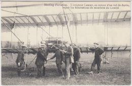 27113g   MEETING D'AVIATION - L'AVIATEUR LANSER AU RETOUR D'UN VOL DE DUREE - 1910 - St-Pieters-Woluwe - Woluwe-St-Pierre