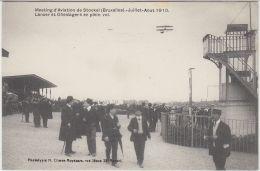 27114g   MEETING D'AVIATION STOCKEL 1910  - LANSER ET OLIESLAGERS EN PLEIN VOL - St-Pieters-Woluwe - Woluwe-St-Pierre