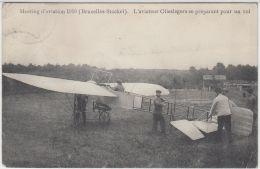 27116g   MEETING D'AVIATION STOCKEL 1910  - AVIATEUR OLIESLAGERS SE PREPARANT POUR UN VOL - Woluwe-St-Pierre - St-Pieters-Woluwe