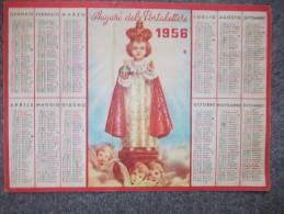 10537-CALENDARIO 1956 COL BAMBINO GESU' - AUGURI DEL PORTALETTERE - Calendari