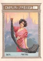 "04331 ""CAROLINA LOMBARDA - FIGURA FEMMINILE""  ETICHETTA ORIGINALE PER FILATI/TESSUTI  - LORIGINAL LABEL FOR THREADS - Adesivi"