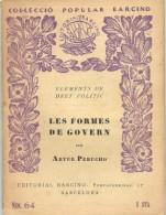 COLECCIO BARCINO 1931 LES FORMES DE GOBERN  Nº64 - Livres, BD, Revues