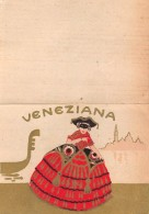 "04336 ""VENEZIANA - FIGURA FEMMINILE""  ETIC. ORIG. PER CALZE  - ORIGINAL LABEL SOCKS - Adesivi"