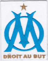 Ligue 1 Olympique De Marseille L'OM Football Badge Iron On Embroidered Patch - Patches