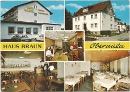R80 Oberaula - Hotel Pension Haus Braun - Auto Cars Voitures / Non Viaggiata - Germania
