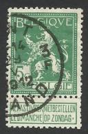 Belgium,  5 C. 1912, Sc # 94, Mi # 91, Used - 1912 Pellens
