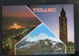 Q1431 ITALIA, ABRUZZO - TERAMO, MULTIPLA CON CAMPANILE DELLA CHIESA E TRAMONTO - NON SCRITTA NON VIAGGIATA - Teramo